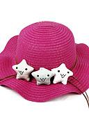 זול שמלות לבנות-מידה אחת בז' / פוקסיה / חאקי כובעים ומצחיות פפיון / פרח אנימציה פעיל / בסיסי / מתוק בנות ילדים / פעוטות
