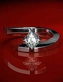 ราคาถูก ชุดว่ายน้ำและบิกินีผู้หญิง-สำหรับผู้หญิง วงแหวน คำชี้แจง Ring Cubic Zirconia 1pc ขาว ทองแดง Geometric Shape อินเทรนด์ ปาร์ตี้ ของขวัญ เครื่องประดับ ปลา เท่ห์
