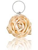 ราคาถูก โค้ท & เทรนช์โค้ทผู้หญิง-สำหรับผู้หญิง คริสตัล / ดอกไม้ ผ้าไหม กระเป๋าราตรี ถุงเย็นคริสตัล Rhinestone สีทึบ สีเงิน / Almond / ไวน์ / ฤดูใบไม้ร่วง & ฤดูหนาว
