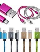 זול כבל & מטענים iPhone-סוג C כבל קלוע / תשלום מהיר חומר מיוחד מתאם כבל USB עבור Macbook / iPad / סמסונג