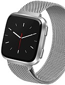 ราคาถูก วง Smartwatch-สายนาฬิกา สำหรับ Fitbit Versa Fitbit สายสแตนเลส Milanese สแตนเลส สายห้อยข้อมือ