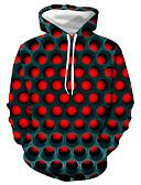 Χαμηλού Κόστους Αντρικές Μπλούζες με Κουκούλα & Φούτερ-Ανδρικά Μεγάλα Μεγέθη Βασικό / Καθημερινά Φούτερ με Κουκούλα - Γεωμετρικό / Συνδυασμός Χρωμάτων / 3D Με Κουκούλα