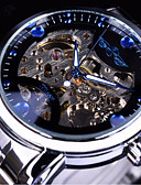 Χαμηλού Κόστους Μηχανικά Ρολόγια-WINNER Ανδρικά μηχανικό ρολόι Αυτόματο κούρδισμα Ασημί / Χρυσό Εσωτερικού Μηχανισμού Καθημερινό Ρολόι Μεγάλο καντράν Αναλογικό Μοντέρνα Σκελετός - Λευκό Μαύρο Μπλε