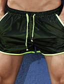 ราคาถูก กางเกงผู้ชาย-สำหรับผู้ชาย พื้นฐาน เพรียวบาง กางเกงขาสั้น กางเกง - สีพื้น สีดำ สีน้ำเงินกรมท่า L XL XXL