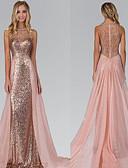ราคาถูก Special Occasion Dresses-A-line คอตั้ง ชายกระโปรงลากพื้น ชิฟฟอน / เลื่อม เพื่อนเจ้าสาวชุด กับ ของประดับด้วยลูกปัด / เลื่อม โดย JUDY&JULIA