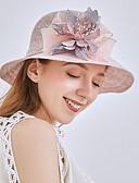 ราคาถูก ชุดเพื่อนเจ้าสาว-สำหรับผู้หญิง ลายดอกไม้ ตารางไขว้ ซึ่งทำงานอยู่ พื้นฐาน สไตล์น่ารัก-หมวกปีกกว้าง ดวงอาทิตย์หมวก ทุกฤดู ผ้าขนสัตว์สีธรรมชาติ สีเทา สีกากี