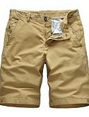 ราคาถูก กางเกงผู้ชาย-สำหรับผู้ชาย พื้นฐาน กางเกงขาสั้น กางเกง - สีพื้น ส้ม สีกากี เทาอ่อน 34 36 38
