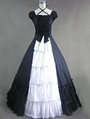 ราคาถูก ชุดโลลิต้า-วินเทจ Princess Lolita Rococo หนึ่งชิ้น ชุดเดรส คอสเพลย์และคอสตูม Female ญี่ปุ่น เครื่องแต่งกายคอสเพลย์ ขาว / สีดำ / แดง ลายต่อ Cap แขนสั้น Maxi ความยาว / Victorian
