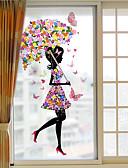 זול מחזיקים ומרכבים-פרח ילדה נשלף חלון הסרט PVC - -&מדבקות ampamp קישוט גיאומטרי