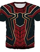 ราคาถูก เสื้อยืดและเสื้อกล้ามผู้ชาย-สำหรับผู้ชาย ขนาดพิเศษ เสื้อเชิร์ต ลายพิมพ์ คอกลม 3D สายรุ้ง