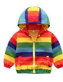 olcso Fiú dzsekik és kabátok-Gyerekek Fiú Aktív Alap Színes Szivárvány Szokványos Ballon kabát Szivárvány