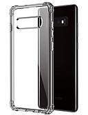 Χαμηλού Κόστους Αξεσουάρ Samsung-tok Για Samsung Galaxy Galaxy S10 Ανθεκτική σε πτώσεις / Διαφανής Πίσω Κάλυμμα Διάφανη Μαλακή TPU