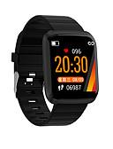 baratos Vestidos para Meninas-kimlink 116pro homens mulheres smartwatch android ios bluetooth tela sensível ao toque à prova d 'água monitor de freqüência cardíaca medição da pressão arterial esportes temporizador cronômetro