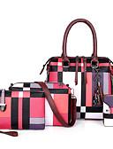 Χαμηλού Κόστους Θήκες iPhone-Γυναικεία Φερμουάρ PU Σετ τσάντα Συμπαγές Χρώμα 4 σετ Σετ τσαντών Ουρανί / Θαλασσί / Ρουμπίνι