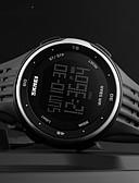 זול שעונים-SKMEI בגדי ריקוד גברים שעון דיגיטלי דיגיטלי גומי שחור / אדום 30 m עמיד במים לוח שנה כרונוגרף דיגיטלי חוץ אופנתי - אדום ירוק כחול שנתיים חיי סוללה