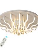 billige ladeplugg-led60w krystall taklampe / moderne led flush mount lys for stue soverom ny design kreativ / varm hvit / hvit / dimbar med fjernkontroll