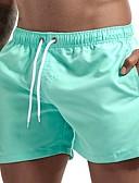 זול בגדי ים לגברים-ירוק צבא L XL XXL אחיד, בגדי ים חלקים תחתונים מכנסי שחייה ירוק צבא חאקי כחול ים בסיסי בגדי ריקוד גברים