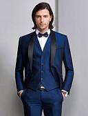 povoljno Maturalne haljine-Tuxedos Standardni kroj Maramasti ovratnik Droit 1 bouton Poliester / Spandex Jednobojni