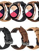 זול רצועת שעונים-עור אמיתי רטרו wristband wristband רצועת היד לצפות הלהקה עבור סמסונג גלקסיה לצפות פעיל / גלקסיה לצפות 42mm / ציוד ספורט / הילוך s2 שעון חכם