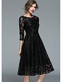 ราคาถูก Special Occasion Dresses-A-line อัญมณี เสมอเข่า ลูกไม้ ค็อกเทลปาร์ตี้ แต่งตัว กับ ปักลายปัก โดย LAN TING Express