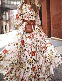 ราคาถูก เมกซิเดรส-สำหรับผู้หญิง สวิง แต่งตัว - ลายพิมพ์, ลายดอกไม้ ขนาดใหญ่