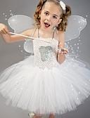 זול סטים של ביגוד לבנות-בגדי ריקוד לילדים / תחפושות ריקוד שמלות בנות הצגה / תחפושות קוספליי ניילון דוגמא \ הדפס / מפרק מפוצל שמלה