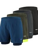ราคาถูก เสื้อโปโลสำหรับผู้ชาย-Arsuxeo สำหรับผู้ชาย useless กางเกงขาสั้นวิ่งด้วยเสื้อรัดรูป สแปนเด็กซ์ 2 ใน 1 ลายต่อ ที่เรียบง่าย กีฬา กางเกงขาสั้น ด้านล่าง วิ่ง มาราธอน การฝึกอบรมที่ใช้งานอยู่ วิ่งออกกำลังกาย / ผสมยางยืดไมโคร
