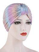 billige Hatter til damer-Dame Grunnleggende Solhatt Ensfarget Polyester Alle årstider Regnbue Vin Marineblå