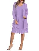 זול בגדי ים במידות גדולות-מעל הברך אחיד - שמלה שני חלקים מידות גדולות בגדי ריקוד נשים