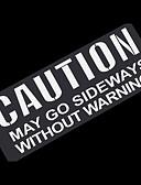 זול רצועת שעונים-אותיות אזהרה כלליות מדבקה מדבקות רכב רפלקטיביים