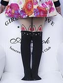 Χαμηλού Κόστους Στρας&Διακοσμητικά-5 σετ Παιδιά Κοριτσίστικα Γλυκός Μονόχρωμο Sexy Πολυεστέρας Κάλτσες & Καλσόν Λευκό / Μαύρο / Ανθισμένο Ροζ M / L