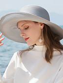 זול אביזרים-פּוֹלִיאֶסטֶר כובעי קש עם מוצק 1pc קזו'אל / לבוש יומיומי כיסוי ראש