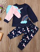 זול סטים של ביגוד לתינוקות-סט של בגדים שרוול ארוך דפוס בנות תִינוֹק