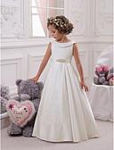 Χαμηλού Κόστους Λουλουδάτα φορέματα για κορίτσια-Παιδιά Κοριτσίστικα Βασικό Γλυκός Άσπρο Μονόχρωμο Στάμπα Αμάνικο Μακρύ Φόρεμα Λευκό / Βαμβάκι