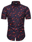 זול חולצות לגברים-גראפי פאנק & גותיות חולצה - בגדי ריקוד גברים דפוס פול / שרוולים קצרים