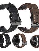 זול רצועת שעונים-עור אמיתי רטרו wristband wristband רצועת רצועת היד לצפות עבור הלהקה xiaomi huami amazfit stratos 2 / 2s / huami amazfit a1602 / huami amazfit קצב שעון חכם