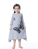 Χαμηλού Κόστους Φορέματα για κορίτσια-Παιδιά Κοριτσίστικα Κινούμενα σχέδια Φόρεμα Ανθισμένο Ροζ