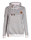 povoljno Majice s kapuljačama i trenirke za dječake-Žene Ležerne prilike Hoodie Prugasti uzorak