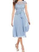 זול שמלות לילדות פרחים-גזרת A עם תכשיטים באורך הקרסול שיפון / תחרה מסיבת קוקטייל שמלה עם על ידי LAN TING Express