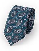 olcso Férfi nyakkendők és csokornyakkendők-Férfi Nyomtatott / Paisley / Jacquardszövet Party / Munkahelyi / Alap - Nyakkendő