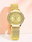 baratos Relógios de quartzo-Mulheres Relógios de Quartzo Clássico Fashion Prata Dourada Aço Inoxidável Chinês Quartzo Dourado Prata Impermeável Relógio Casual imitação de diamante 30 m 1 Pça. Analógico Um ano Ciclo de Vida da