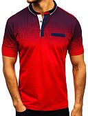 ราคาถูก เสื้อโปโลสำหรับผู้ชาย-สำหรับผู้ชาย Polo พื้นฐาน / Street Chic ลายต่อ ลายบล็อคสี สีดำ XL