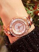 ราคาถูก นาฬิกาข้อมือสแตนเลส-สำหรับผู้หญิง นาฬิกาควอตส์ นาฬิกาอิเล็กทรอนิกส์ (Quartz) สไตล์สมัยใหม่ สไตล์ สแตนเลส เงิน / ทอง / Rose Gold 30 m กันน้ำ นาฬิกาใส่ลำลอง เลียนแบบเพชร ระบบอนาล็อก ความหรูหรา แฟชั่น -  / หนึ่งปี