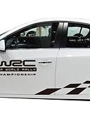זול חליפות לנושאי הטבעת-לבן / שחור מדבקות לרכב עסקים רכב מלא מדבקות טקסט / מספר מדבקות