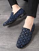 ราคาถูก เสื้อเชิ้ตผู้ชาย-สำหรับผู้ชาย รองเท้าหนังนิ่ม หนังนิ่ม ฤดูร้อนฤดูใบไม้ผลิ / ฤดูใบไม้ร่วง & ฤดูหนาว ธุรกิจ / ไม่เป็นทางการ รองเท้าส้นเตี้ยทำมาจากหนังและรองเท้าสวมแบบไม่มีเชือก วสำหรับเดิน ระบายอากาศ สีดำ / แดง / ฟ้า