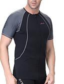 ราคาถูก ชุดดำน้ำ-Dive&Sail สำหรับผู้ชาย Rash Guard 1.5มม. Elastane Neoprene รักษาให้อุ่น SPF50 การป้องกันรังสียูวี แขนสั้น การว่ายน้ำ การดำน้ำ Surfing ลายต่อ / ระบายอากาศ / แห้งเร็ว / ระบายอากาศ / แห้งเร็ว