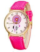 ราคาถูก นาฬิกาควอตซ์-สำหรับผู้หญิง นาฬิกาควอตส์ นาฬิกาอิเล็กทรอนิกส์ (Quartz) PU Leather ดำ / สีขาว / สีชมพู นาฬิกาใส่ลำลอง ระบบอนาล็อก แฟชั่น - สีแดงชมพู สีม่วง กุหลาบแดง หนึ่งปี อายุการใช้งานแบตเตอรี่ / สแตนเลส