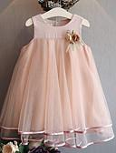 זול שמלות לתינוקות-שמלה אחיד ורד מאובק בנות ילדים