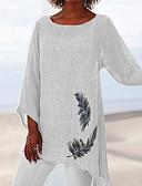 billige Bluser-Løstsittende Store størrelser T-skjorte Dame - Dyr Hvit