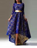 olcso nadrág-Női Sellő fazon Ruha Egyszínű Aszimmetrikus